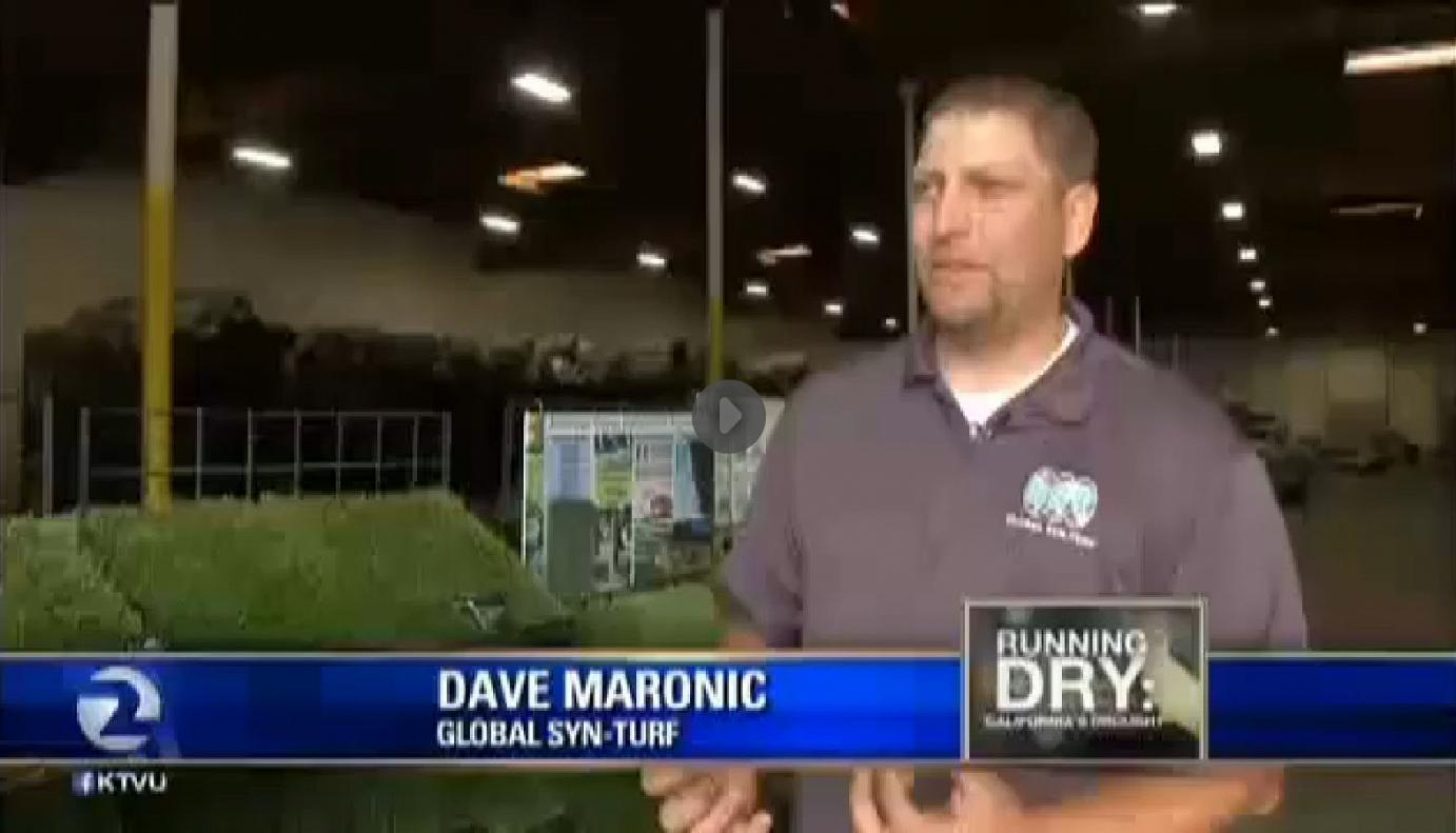 Artificial Grass - California Drought Salvation - Global Syn-Turf at San Francisco's Fox News