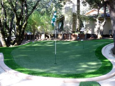 Artificial Grass Photos: Grass Installation Achille, Oklahoma Putting Green Grass, Backyard Landscape Ideas