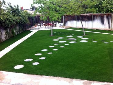 Green Lawn Healdton, Oklahoma Backyard Deck Ideas, Backyard Landscape Ideas artificial grass