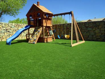 Artificial Grass Photos: How To Install Artificial Grass Bokchito, Oklahoma Roof Top, Backyard Landscaping Ideas