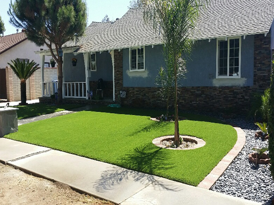 Synthetic Lawn Whitefield Oklahoma Landscape Design Small Front